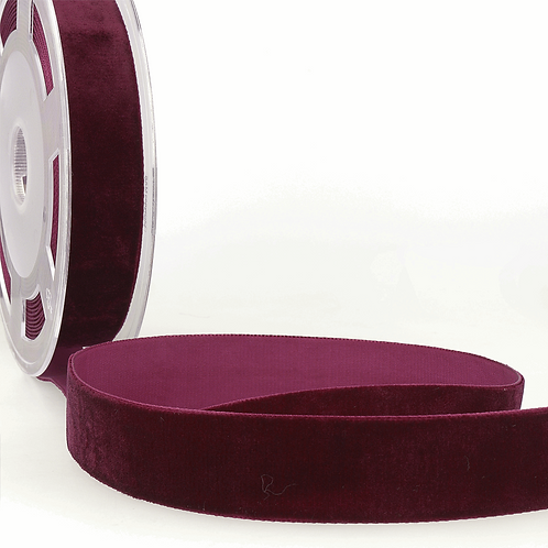 Ruby burgundy 7mm Ribbon by the metre