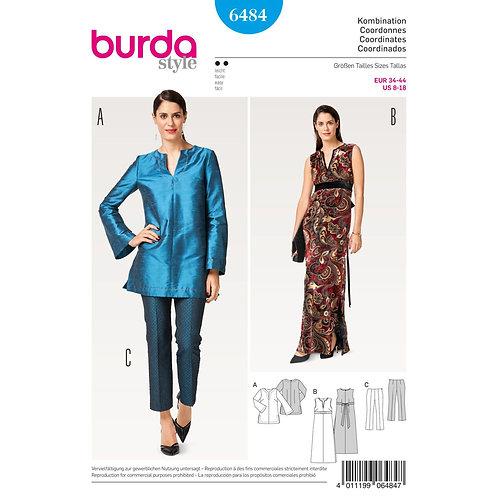6484 Evening Dress Burda Pattern