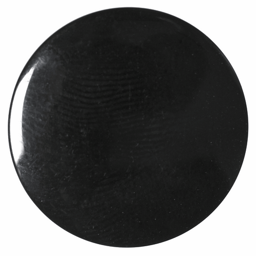 11mm Plain Black Button with shank