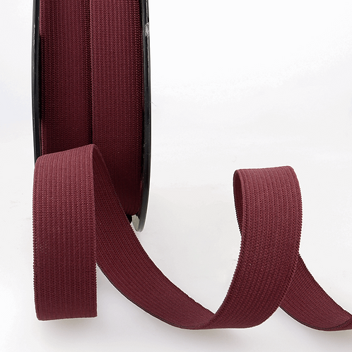 20mm Burgundy Ribbon Elastic by the metre