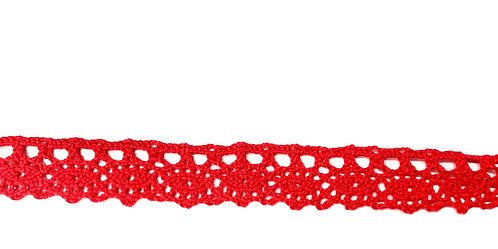 Red Cotton Lace 20mm