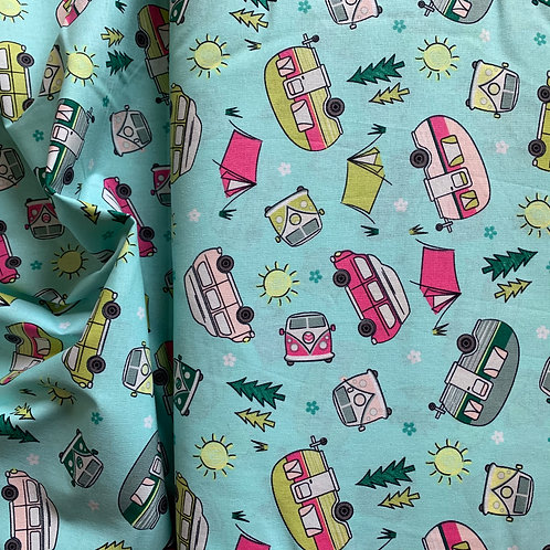 Happy Campers 100% Cotton Fabric