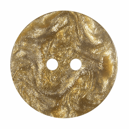 22mm Gold Metallic Shimmer Round Button