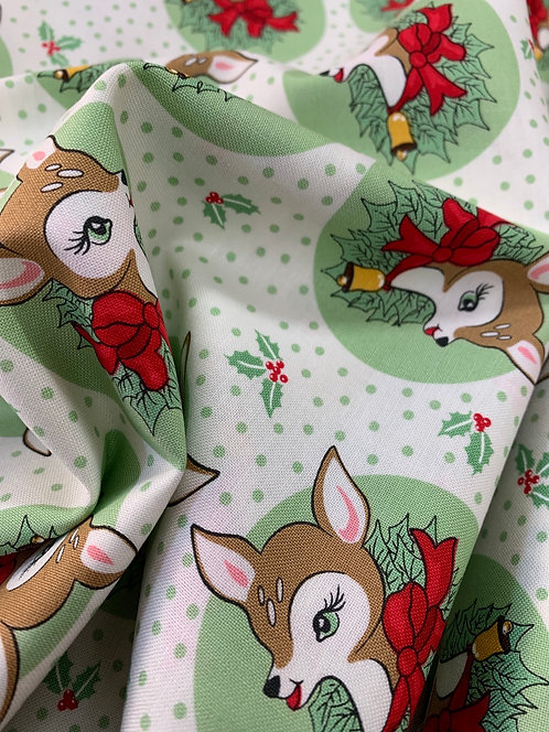 Green Deer Christmas by Urban Chiks for Moda 100% Cotton Fabric