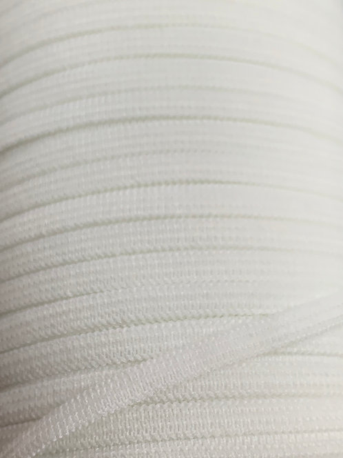 6mm Latex Free face mask White Elastic