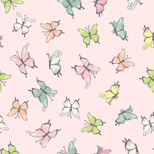 Butterflies 100% Cotton Fabric