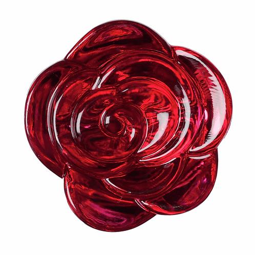 18mm Rose Dark Pink Button