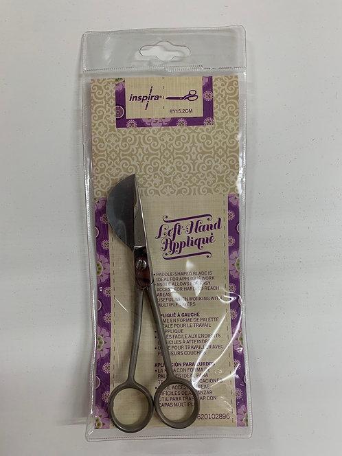 "INSPIRA® LEFT HANDED 6"" Duck Bill Applique Scissor"