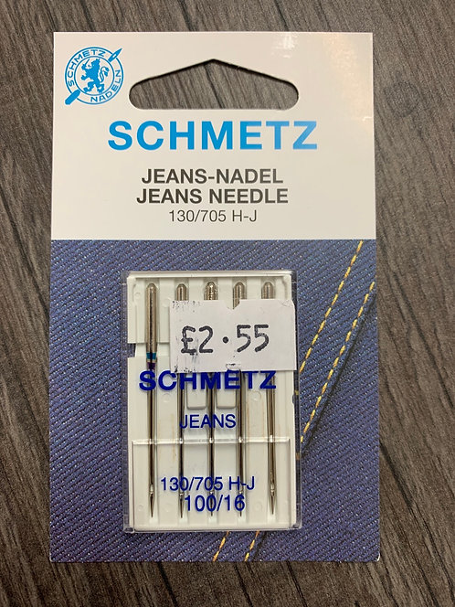 Schmetz Universal Jeans 100/16 Sewing Machine Needles