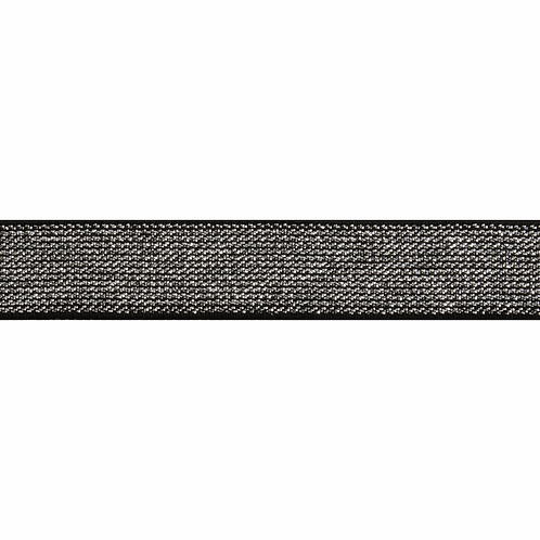 Black 20mm Elastic with Metallic silver