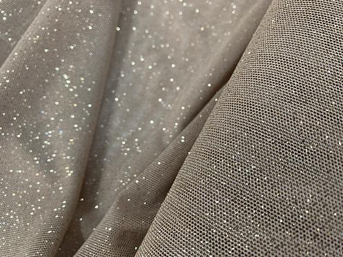 Skin Tone Nude Sparkle Power Net Fabric