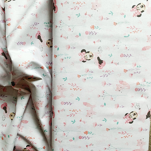 Minnie Mouse & Little Fox 100% Cotton Fabric