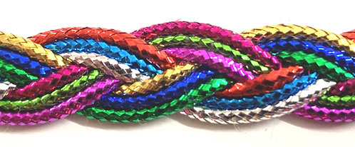 Rainbow Plaited Metallic Trim 10mm