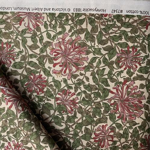 May Morris Honeysuckle 100% Cotton Fabric
