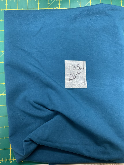 Clearance Fabric teal jersey stretch