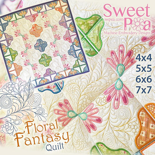 Sweet Pea Floral Fantasy ITH Embroidery CD