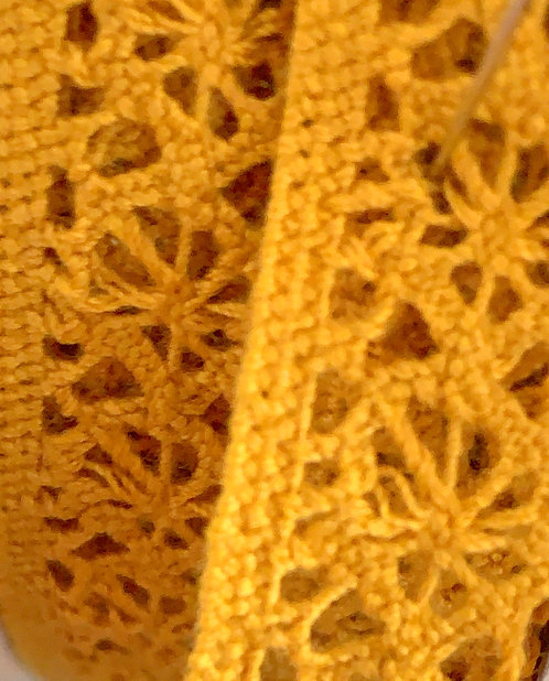 Mustard Ochre Cotton Lace Ribbon