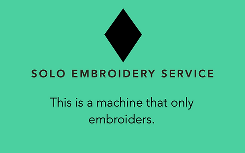 SOLO EMBROIDERY Machine Servicing