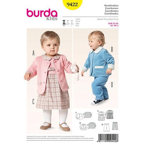 Burda Style Pattern 9422 Baby