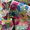 Thumbnail: Face Mask Covering Pleated Liberty Cosmos Bloom Floral