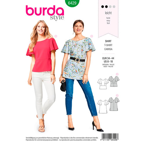 6429 Trendy Top Burda Pattern