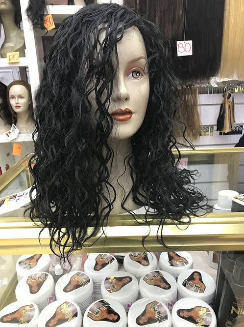 Curly Black Synthetic Hair Wig