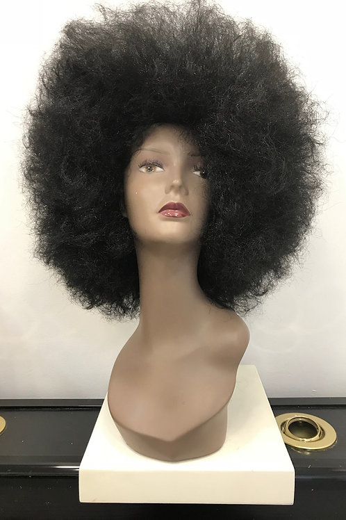 BLACK SYNTHETIC AFRO HAIR WIG