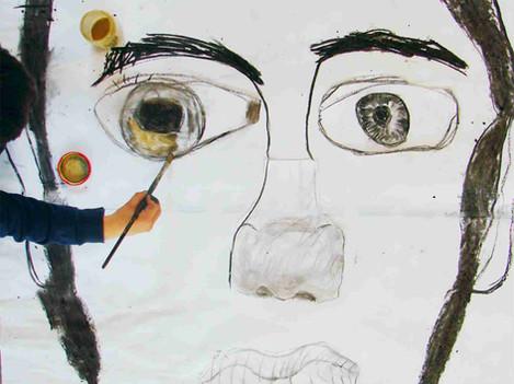 Portrait géant