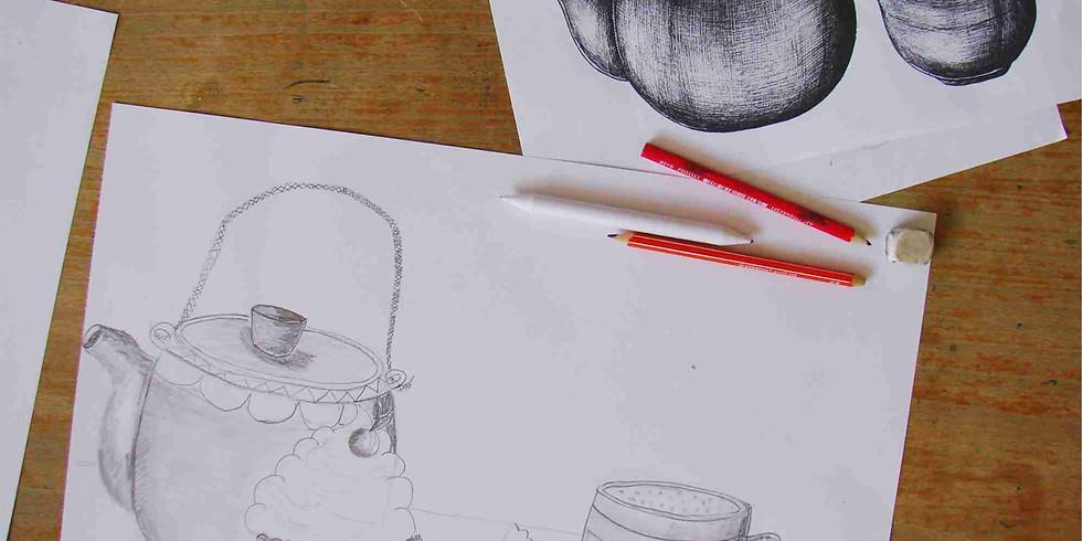 Atelier dessin  // L'heure du thé