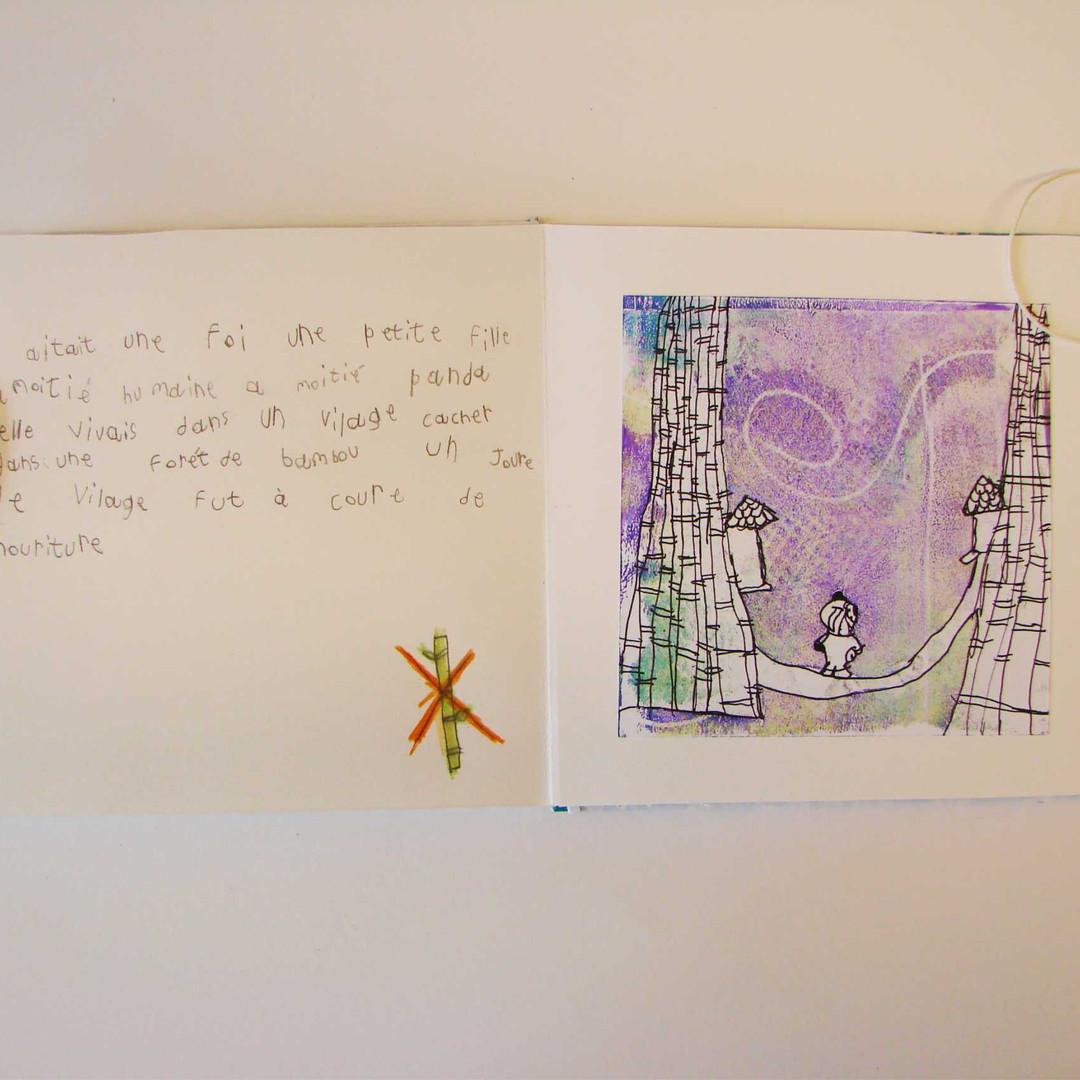 Le livre accordéon / impression à la gélatine // stage vacances de printemps 2016