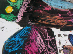 Pastel Gras et peinture