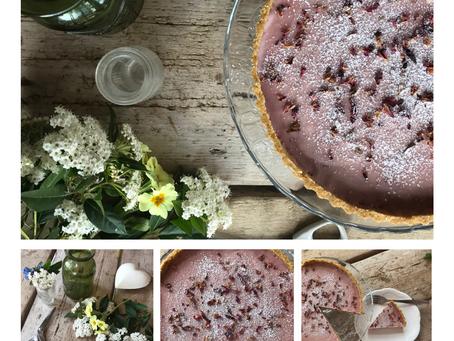 Raspberry ganache tart