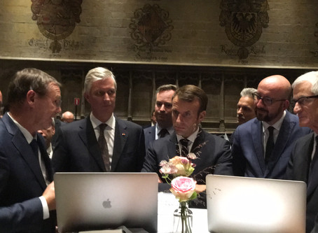 Praesens Foundation meets French President Macron and  His Royal Highness King Philippe of Belgium