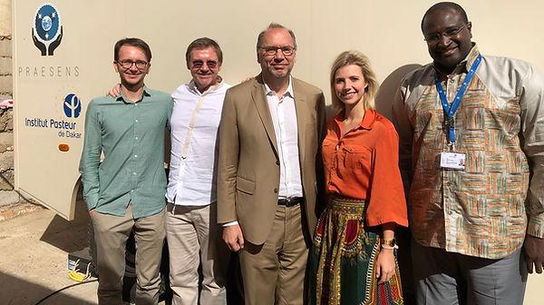 Rudi Pauwels, Peter Piot, Amadou Alpha Sall, Aurélie Cappuyns, Steven Pauwels, Team, PRaesens Foundation Board of Directors