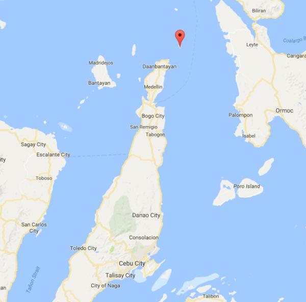 Location of Malapascua Island