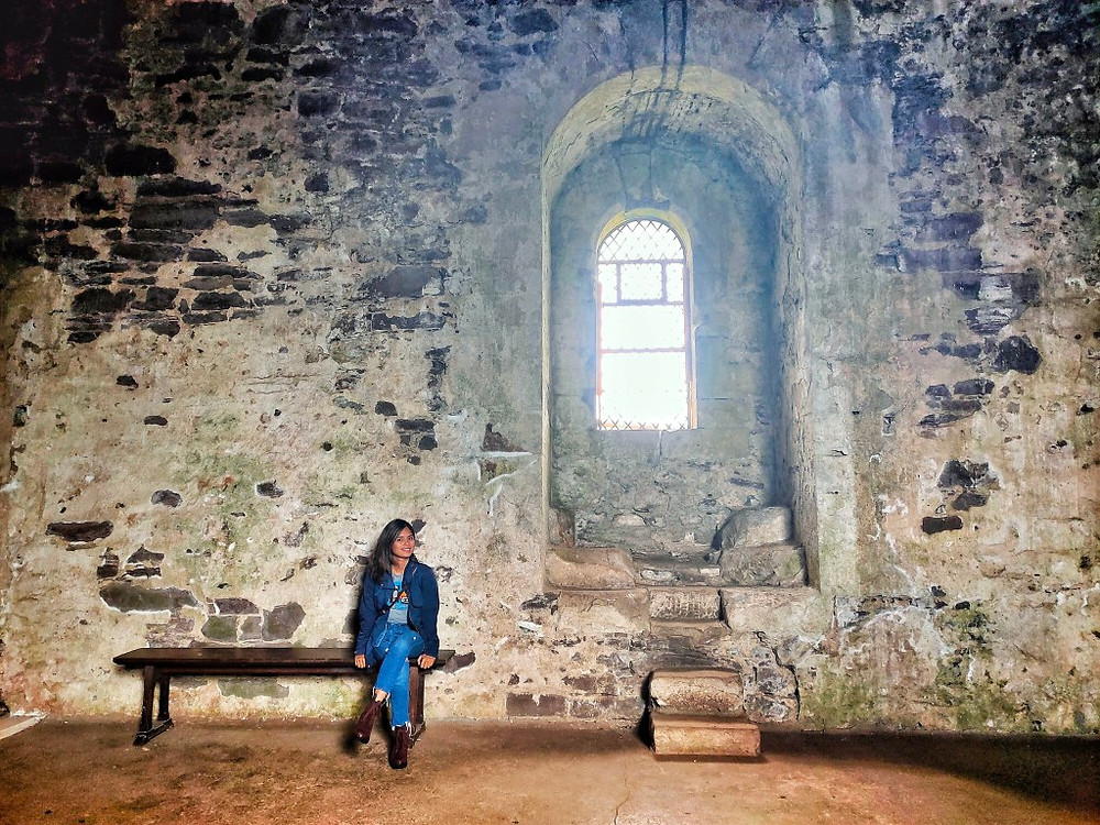 inside the medieval doune castle