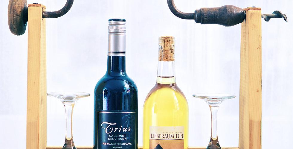 Vintage Hand Auger Wine Tote