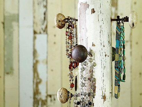Repurposing a Post As a Jewelry Holder