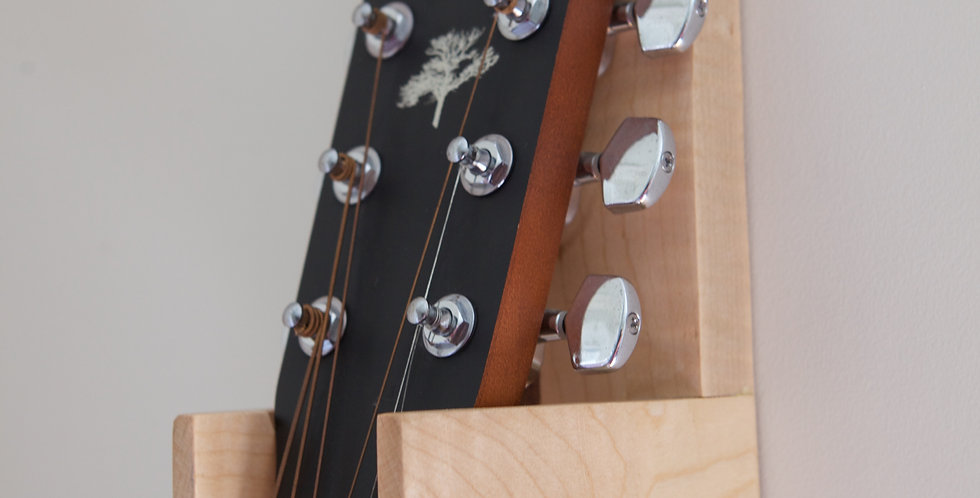 Curly Maple & Walnut Guitar Wall Hanger - (Model #3)