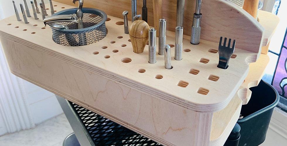 Leather Artist Storage Tote - Raskog Cart