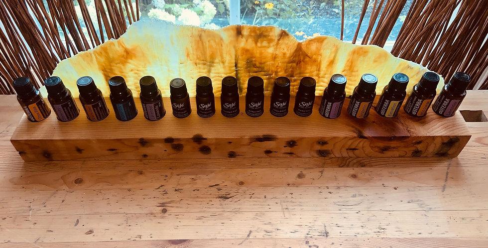 Fused Glass/Wood Essential Oil Holder