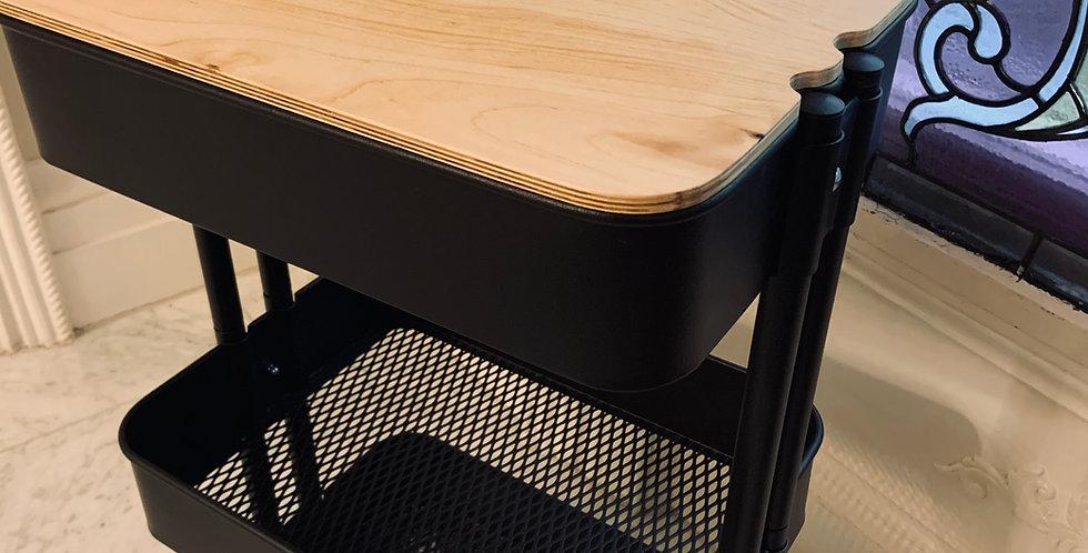 Ikea Raskog Cart Topper - Custom Birch Hardwood