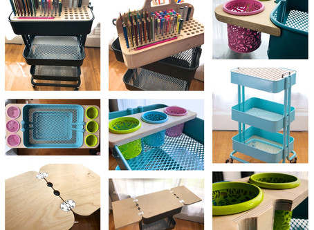 Custom Inserts for the Versatile Ikea Raskog Cart
