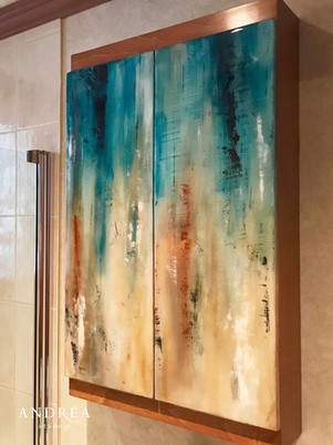 Portes d'armoires de salle de bain