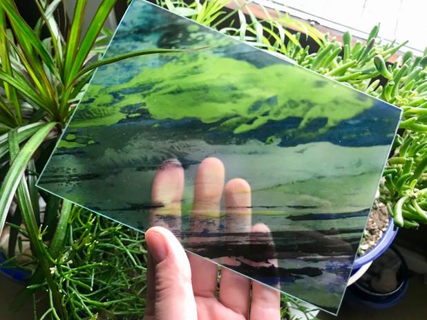 Échantillon sur verre