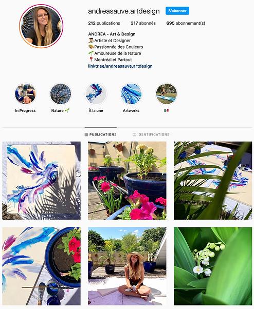 Instagram Andréa Sauvé Art Design