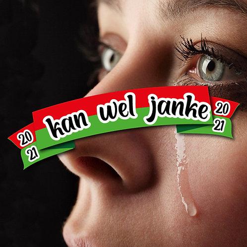Embleem Kan wel Janke (rood/groen)