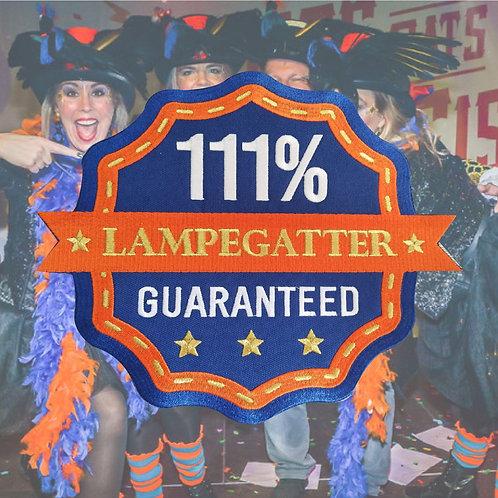 RUG embleem 111% LAMPEGATTER