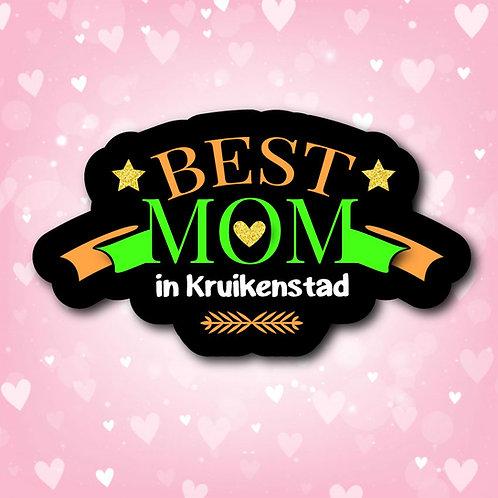 Embleem Best Mom Kruikenstad