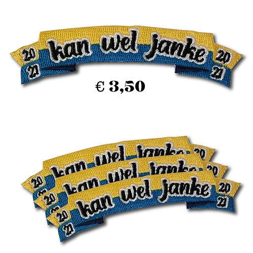 Embleem Kan wel Janke (blauw/geel)